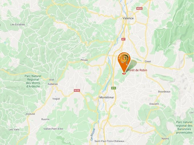La Forêt de Robin à Marsanne - Drôme